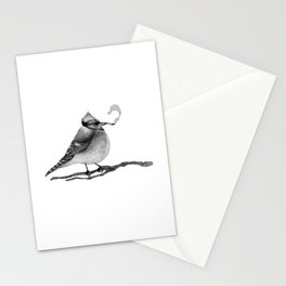 Blue Jay Smoking a Joint Stationery Cards