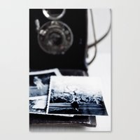 vintage camera Canvas Prints featuring camera by Ingrid Beddoes