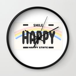 Happy State Wall Clock