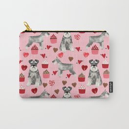 Schnauzer valentines day cupcakes love hearts schnauzers must have pure breed lovers Carry-All Pouch
