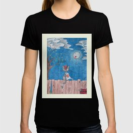 Sometimes even the moon is laughing T-shirt
