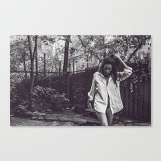 chelsea backyard Canvas Print