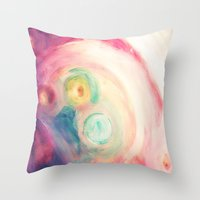 third eye Throw Pillows featuring third eye by Kras Arts - Fly Me To The Moon