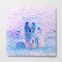Arctic Fox Dream   Painting Metal Print