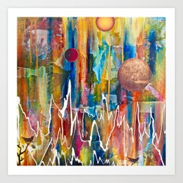 Utopian Dreamscape Art Print
