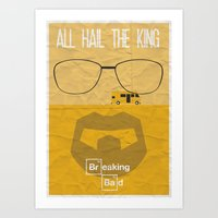 breaking bad Art Prints featuring BREAKING BAD by Vloh