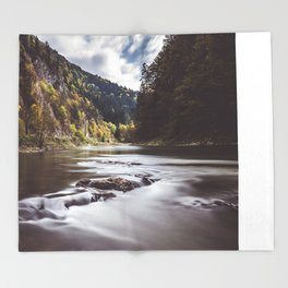 Dunajec River - Landscape and Nature Photography Throw Blanket