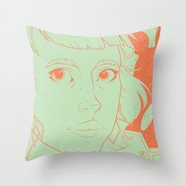 Etsy Girl Throw Pillow