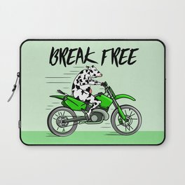 Cow riding a motorbike Laptop Sleeve