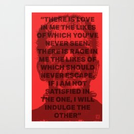 Mary Shelly's Frankenstein Quote Print Art Print