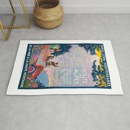 1920 France La Route de Alps PLM Travel Poster Rug
