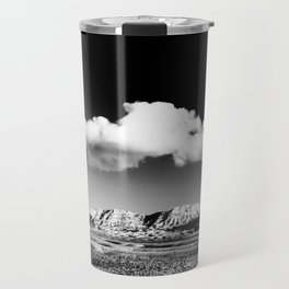 Black Sky Desert Landscape // Red Rock Canyon Las Vegas Nevada Mojave Mountain Range Travel Mug