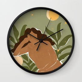 Thankful for my plants Wall Clock