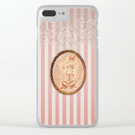 Pink Ballerina Clear iPhone Case
