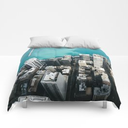 Chicago From Above Comforters