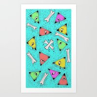 triangle Art Prints featuring Triangle by Jimmy Kid