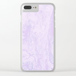 Pink Purple and Blue Marble Pattern Clear iPhone Case