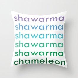 shawarma chameleon Throw Pillow