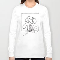 sneaker Long Sleeve T-shirts featuring Sneaker Snake by Leslie Buccino