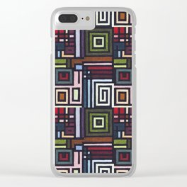 Border Pattern Design (1) Clear iPhone Case