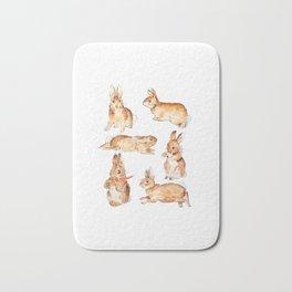 Bunnies in Tales of Peter Rabbit  characters Beatrix Potter Bath Mat