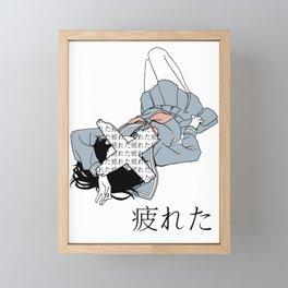 TIRED - SAD JAPANESE ANIME AESTHETIC Framed Mini Art Print