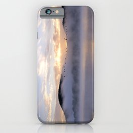 Misty Morning on the Lake iPhone Case