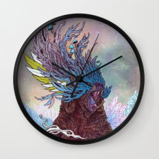Journeying Spirit (Bear) Wall Clock