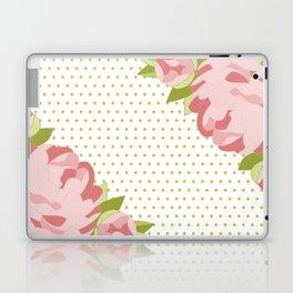 Peonies & Polka Dots Laptop & iPad Skin