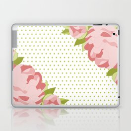 Peonies & Polka Dots Laptop & iPad Skin