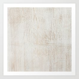 White vintage wood Art Print