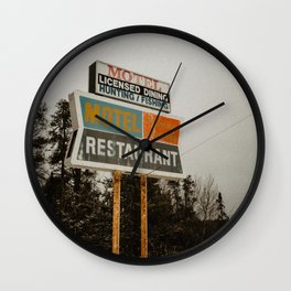 Closed For Business on the Highway Wall Clock