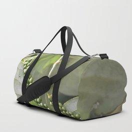 Green Pepper plant Illustration Duffle Bag