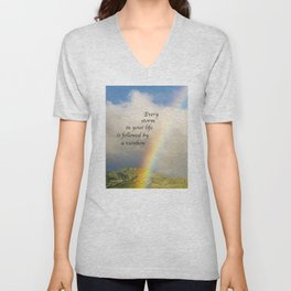 Every Storm is Followed by a Rainbow Unisex V-Neck