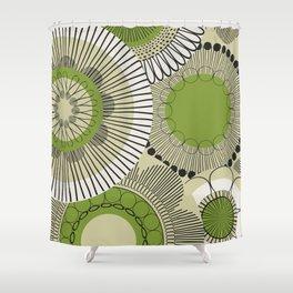 Kiwi flowers Shower Curtain