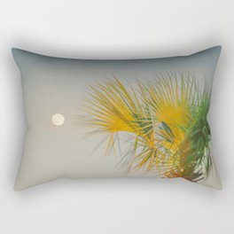 Moon and Palm Rectangular Pillow