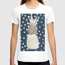 Gold Pineapple Polka Dots 2 T-shirt
