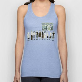 Ice Cream Queue Unisex Tank Top