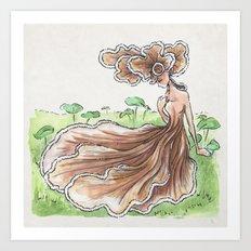 Empire of Mushrooms: Schizophyllum commune Art Print