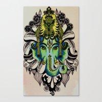ganesha Canvas Prints featuring Ganesha  by Nila Frederiksen