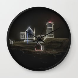 Nubble Lighthouse in December Wall Clock