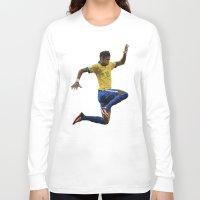 neymar Long Sleeve T-shirts featuring World Cup - Brazil - Neymar by DanielHonick