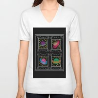 planets V-neck T-shirts featuring Planets by Art Stuff
