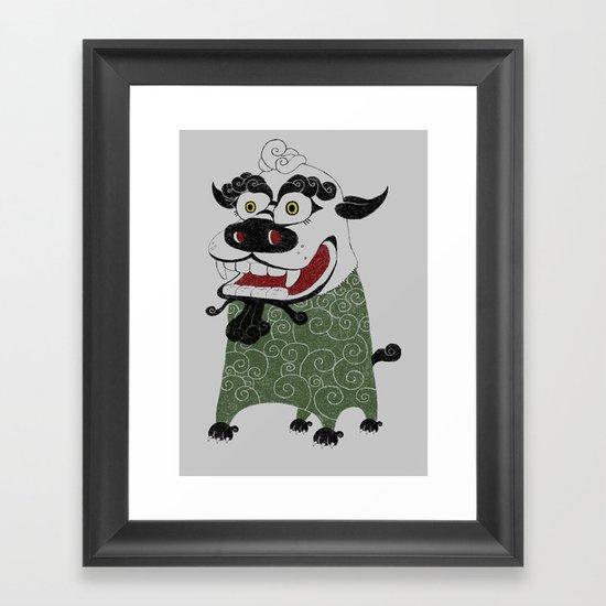 Shishi 獅 Framed Art Print