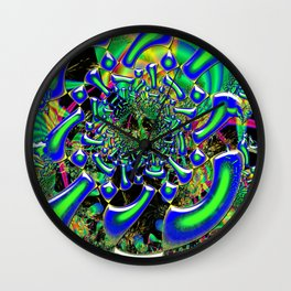 Ring Around The Nucleus Fused Glass Wall Clock