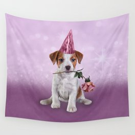 Drawing Puppy Jack Russell Terrier Wall Tapestry