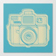 I Still Shoot Film Holga Logo - Turquoise/Tan Canvas Print