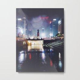 Rainy Nights in Seoul Metal Print