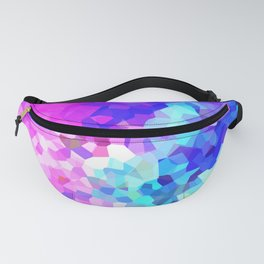 """""""Flare"""" vibrant, colorful, digital abstract-art inspired by the pointillist style Fanny Pack"""