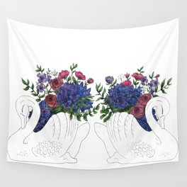 Twin Crown Lynn Swans Wall Tapestry